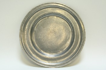 Decorative, Plate, ROUND,PLAIN, PEWTER, GREY