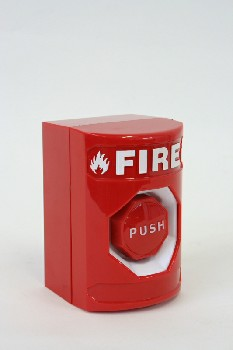 Fire, Box, WALLMOUNT,PUSH BUTTON STOPPER, PLASTIC, RED