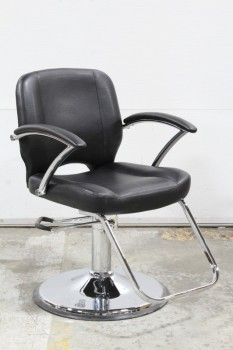 Chair, Salon, BARBER SHOP/HAIRDRESSER,ADJUSTABLE HEIGHT (33 TO 44
