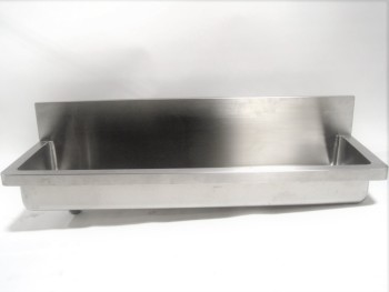 Plumbing, Sink, INDUSTRIAL/COMMERCIAL TROUGH STYLE, DRAINS LEFT, STAINLESS STEEL, SILVER