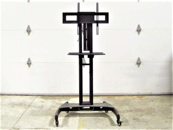 Stand, TV, MOBILE, FLAT PANEL TV/MONITOR MOUNT, ROLLING, METAL, BLACK