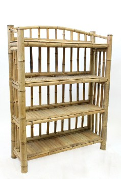 Shelf, Misc, NATURAL,4 LEVELS, BAMBOO, NATURAL