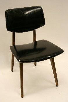 Chair, Side, CURVED SEAT & BACK,WOODEN FRAME, NO ARMS , WOOD, BLACK