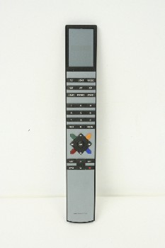 Video, Remote Control, DIGITAL SCREEN,COLORED BUTTONS, PLASTIC, BLACK