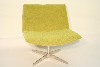 Chair, Client, MODERN,SWIVEL CHROME BASE, FABRIC, YELLOW