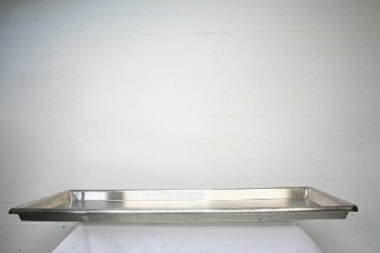 Medical, Morgue, TRAY FOR BODY,NO HANDLES,WITH DRIP TRAY (Not Exactly As Pictured), STAINLESS STEEL, SILVER