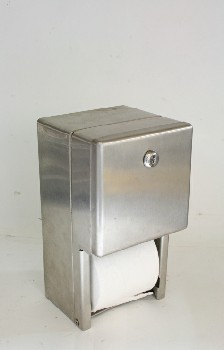 Bathroom, Dispenser, TOILET PAPER,BRUSHED, WALLMOUNT, AGED , STAINLESS STEEL, SILVER