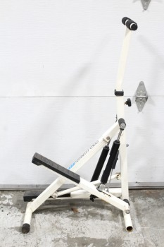 "Sport, Misc, VINTAGE RETRO EXERCISE EQUIPMENT, STEP MACHINE, ""PRO FITNESS,"" AGED, METAL, WHITE"