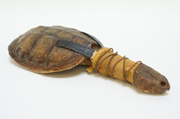 Music, Rattle, TRIBAL,RATTLE,TURLE HEAD & SHELL BACK, SHELL, NATURAL