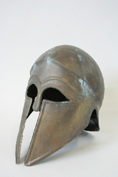 Headwear, Helmet, GREEK, ROUNDED EYES, NOSE & FACE GUARDS, MUSEUM, MEDIEVAL / ANCIENT LOOK, METAL, BRASS