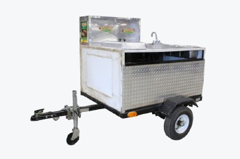 Cart, Vending , SNACK/REFRESHMENT TRAILER,HOT DOG CART, SMALL SINK,1 BURNER, HITCH (31