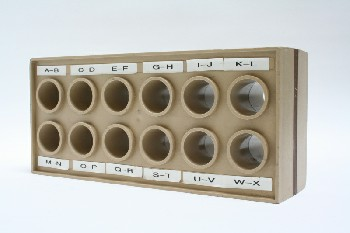 Office, Organizer, MESSAGE HOLDER,12 HOLES, PLASTIC, BEIGE