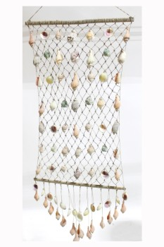 Wall Dec, Hanger, SHELLS HANGING ON NET, WIND CHIME , SHELL, NATURAL