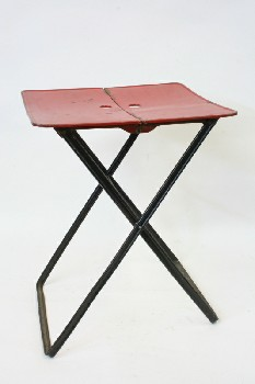 Table, Folding, RED TOP W/HOLES,BLACK