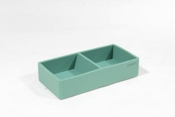 Desktop, Paper Clip Holder, PLAIN W/COMPARTMENTS, SILICONE, GREEN