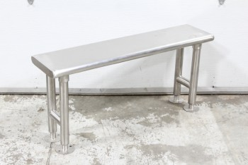Bench, Misc, RECTANGULAR TOP, BOLTABLE LEGS, STAINLESS STEEL, SILVER
