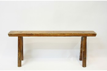Bench, Misc, LONG,LOW, WOOD, BROWN