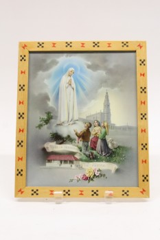 Art, Miscellaneous, FRAMED,VIRGIN MARY,CHILDREN,CHURCH,