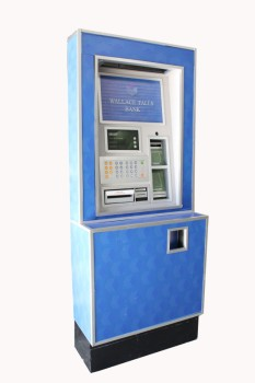Store, ATM, CASH/BANK MACHINE, WOOD, BLUE