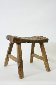 Stool, Rustic , CURVED LOG TOP,RUSTIC , WOOD, BROWN