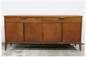 Sideboard, Wood, MIDCENTURY,MODERN, HUTCH/BUFFET CABINET W/2 DRAWERS & 4 DOORS, 2 CUPBOARDS, WOOD, BROWN