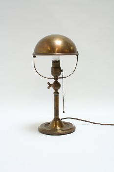 Lighting, Lamp, DESK,DOME SHADE W/ROUND BASE, METAL, BRASS