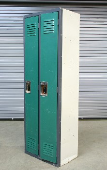 Locker, Misc, DOUBLE VENTED DOORS W/HANDLES