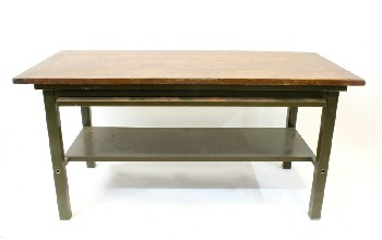 Table, Work, INDUSTRIAL,RECTANGULAR WOOD TOP W/LOWER SHELF & PULL OUT WORK SURFACE (EXTRA 13