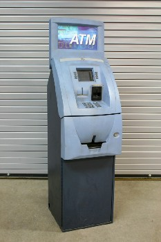 Store, ATM, CASH/BANK MACHINE,STANDING, METAL, BLUE