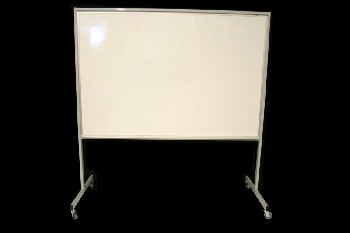 Board, Dry Erase, ROLLING W/PIN ON BACK SIDE, METAL, GREY