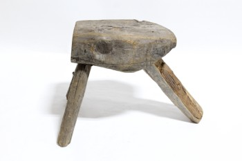 Stool, Rustic , 3 LOG LEGS,STUMP TOP, RUSTIC , WOOD, NATURAL