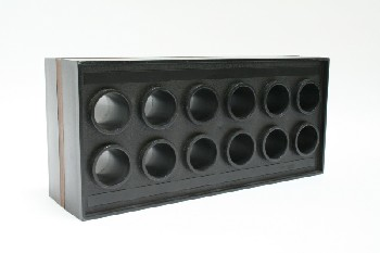 Office, Organizer, MESSAGE HOLDER,12 HOLES, PLASTIC, BLACK