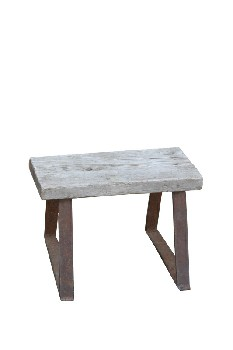 Stool, Rustic , SMALL,RUSTY METAL LEGS, RUSTIC , WOOD, NATURAL
