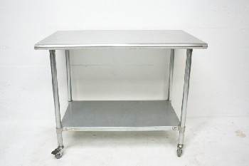 Table, Stainless Steel, LOWER SHELF,ROLLING, STAINLESS STEEL, SILVER