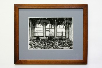 Art, Photo, B&W,GUTTED ROOM,