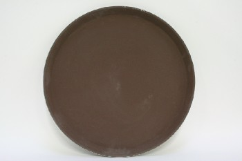 Bar, Tray, SERVING TRAY,ROUND,SLIP RESISTANT, RESTAURANT, PLASTIC, BROWN