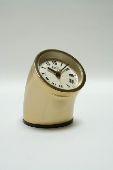 Clock, Desktop, CURVED CYLINDRICAL,