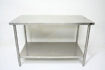 Table, Stainless Steel, LOWER SHELF, STAINLESS STEEL, SILVER