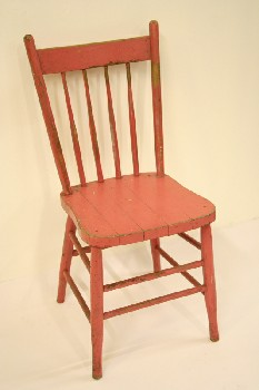 Chair, Dining, KITCHEN,4 SPINDLE BACK, WOOD, PINK