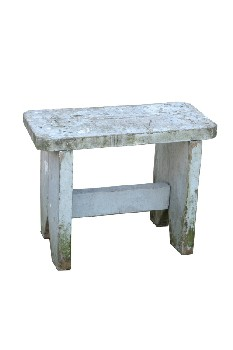 Bench, Rustic, SMALL,THICK LEGS,RUSTIC , WOOD, GREY