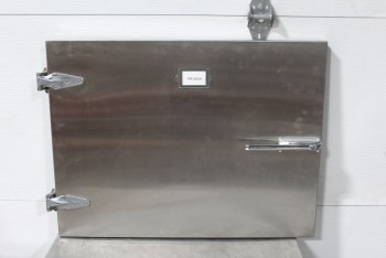Medical, Morgue, MORGUE DOOR W/LATCH & HINGES, STAINLESS STEEL, SILVER