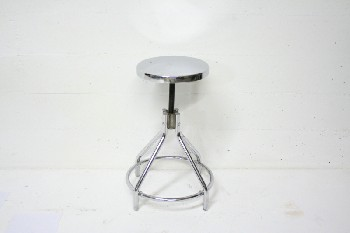 Stool, Stainless, MEDICAL,ROUND SEAT, STAINLESS STEEL, SILVER