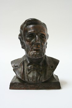 Statuary, Bust, ABRAHAM LINCOLN, METAL, BRONZE