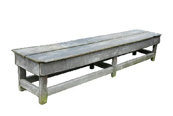 Bench, Rustic, 2 PLANK SEAT,LOWER STRETCHERS,RUSTIC, WOOD, NATURAL