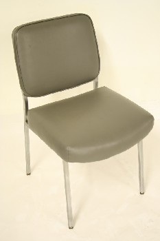 Chair, Side, VINYL SEAT/BACK, METAL, GREY