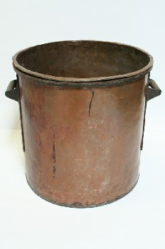 Cookware, Cauldron, W/WOOD/IRON SIDE HANDLES, COPPER, COPPER