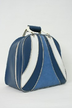 Sport, Bowling, BAG W/WHITE HANDLES & STRIPES,