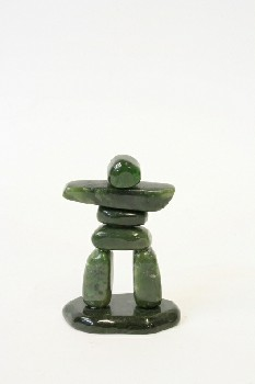 Decorative, Totem, INUKSUK, STONE, GREEN