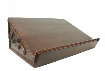 Podium, Tabletop, LECTERN,BOOK STAND,SLANTED,CARVED SIDE & FRONT DETAILS , WOOD, BROWN