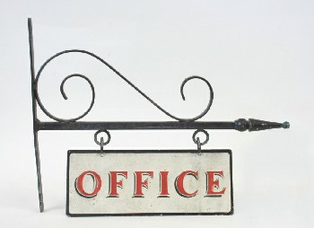 Sign, Office, WALLMOUNT BASE W/HANGING